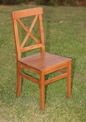 Sabit Ahşap Sandalye - Çeşme X - Thumbnail