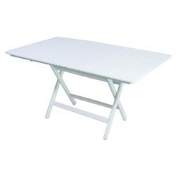 Atina Katlanır Masa - Katlanır Ahşap Masa - Atina 60x80 Beyaz
