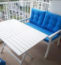 Atina masa 60x80 beyaz - Thumbnail