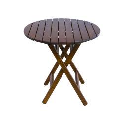 Buzludja Ahşap Bahçe Masası - Katlanır Ahşap Masa - 60 cm. Buzludja