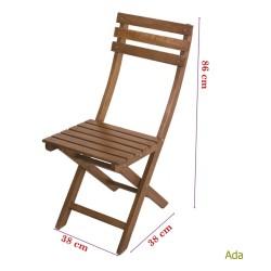 Katlanır Ahşap Sandalye - Ada - Thumbnail