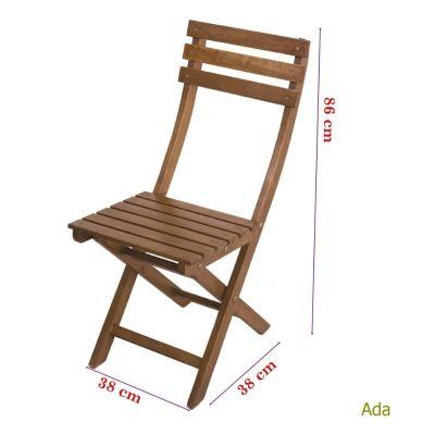Katlanır Ahşap Sandalye - Ada