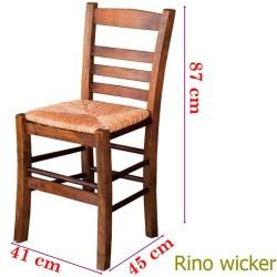 Sabit Ahşap Sandalye - Rino Hasır - Thumbnail