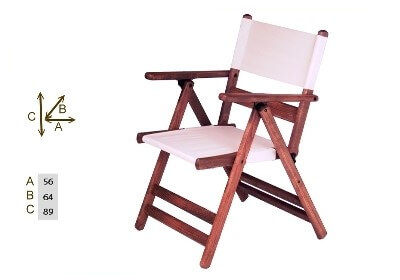 Katlanır Ahşap Sandalye - Atina PVC