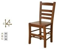 Bahçeci - Rino sandalye (ahşap oturum)