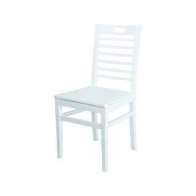Sabit Ahşap Sandalye - Bodrum 7 çıtalı - Beyaz