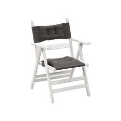 Atina Minderli - Katlanır Ahşap Sandalye - Atina Minderlli - Beyaz