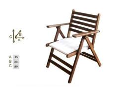 Katlanır Ahşap Sandalye - Atina Mix - Thumbnail
