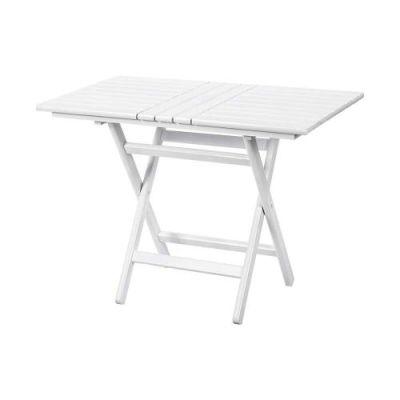 Katlanır Ahşap Masa - Atina 80x120 Beyaz