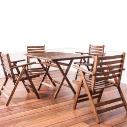 Katlanabilir Ahşap Sandalye - London - Thumbnail