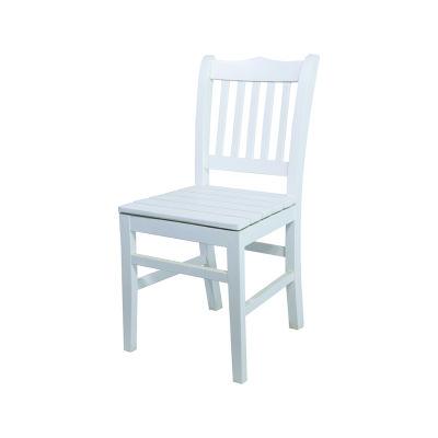 Sabit Ahşap Sandalye - Hisar- Beyaz
