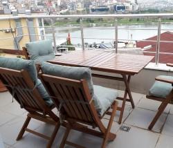Katlanır Ahşap Sandalye - Acropol - Ceviz - Thumbnail