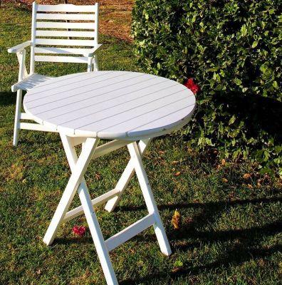 Katlanır Ahşap Masa - 70 cm. Buzludja Beyaz