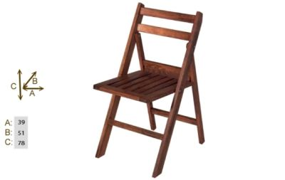 Katlanabilir Ahşap Sandalye - İspanya