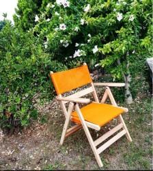 Atina PVC - Katlanır Ahşap Sandalye - Atina PVC - Naturel