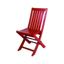 Katlanır Ahşap Sandalye - Acropol - Kırmızı