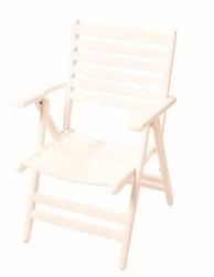 Madrid Sandalye - Katlanabilir Ahşap Sandalye - Madrid Beyaz